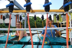 Veronica and Rene cleaning tanks and Heron Island