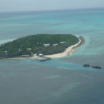 Heron Island aerial view. The research station is located on the right of the island. Photo A. Van Den Heuvel