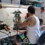 Giovanni B. Working on the Autobox controller.